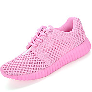 cheap Women's Athletic Shoes-Women's Shoes Breathable Mesh Spring / Summer Comfort / Light Soles Athletic Shoes Flat Heel Round Toe Lace-up White / Black / Pink