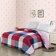 cheap Quilts & Coverlets-Comfortable 1pc Duvet Cover, 100% Polyester 100% Polyester Yarn Dyed 230TC Plaid/Checkered