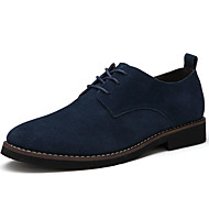 Men's Shoes Leatherette Spring Summer Fall Winter Comfort Light Soles Oxfords Split Joint For Casual Outdoor Office & Career Black Brown