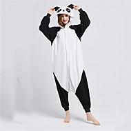 Kigurumi Pijamalar Panda Strenç Dansçı/Tulum Festival / Tatil Hayvan Sleepwear Halloween Siyah beyaz Kırk Yama Polar Kumaş Kigurumi İçin