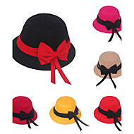 Girl's Bowler Hat Bowknot Elegant Fashion Hat