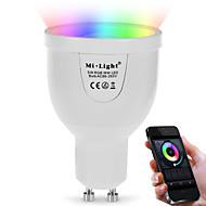 billige -5W GU10 Smart LED-lampe A60(A19) 12 leds SMD 5730 Infrarød sensor Fjernstyrt WIFI Lysstyring Mulighet for demping RGB + Hvit Dual Light