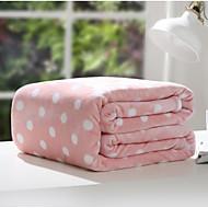 baratos Cobertores e Mantas-Velocino de Coral Pontos Combinação Poliéster/Algodão cobertores