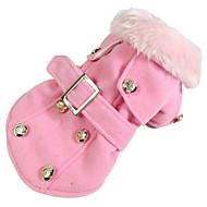 Hund Frakker Hundetøj Varm Afslappet/Hverdag Vindtæt Amerikansk / USA Beige Grå Gul Rød Lys pink Kostume For kæledyr