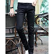 Herrer Enkel Mikroelastisk Tynde Skinny Jeans Bukser,Alm. taljede Ensfarvet