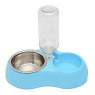 ネコ 犬 餌入れ/水入れ ペット用 ボウル&摂食 ブルー ピンク