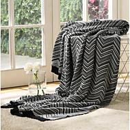 Strick Streifen Baumwolle/Polyester Decken