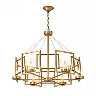 billige Takbelysning og vifter-6-Light Anheng Lys Omgivelseslys galvanisert Metall Glass Pære Inkludert 110-120V / 220-240V Pære Inkludert