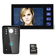 7inch hd הקלטה וידאו הדלת טלפון אינטרקום פעמון הדלת עם 8g tf כרטיס מגע כפתור מרחוק לפתוח ראיית לילה אבטחה cctv מצלמה
