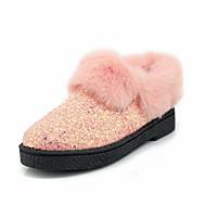 tanie Small Size Shoes-Damskie Obuwie Derma Zima Jesień Comfort Buciki Gruby obcas Okrągły Toe Kozaczki / kozaki do kostki na Formalne spotkania Impreza /