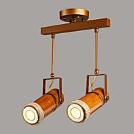 billige Spotlys-2-Light Spotlys Omgivelseslys Malte Finishes Metall Tre / Bambus designere 220-240V Pære Inkludert / GU10