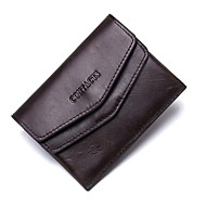 Unisex Bags Cowhide Coin Purse Pockets for Casual Office & Career All Seasons Dark Brown