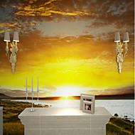 billige Tapet-Himmel Natur og landskap Hjem Dekor Fritid Pastorale Stilen Traditionel / Klassisk Tapetsering, Lerret Materiale selvklebende nødvendig