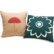 2つ 個 コットン/リネン 枕カバー 抱き枕 旅行用枕 ソファのクッション ベッド用枕,幾何学模様 マルチカラー アートワーク カジュアル ホリデー 座布団 ギフト 高品質 装飾