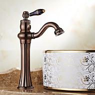 cheap Bathroom Sink Faucets-Centerset Swivel Ceramic Valve Single Handle One Hole Oil-rubbed Bronze, Bathroom Sink Faucet