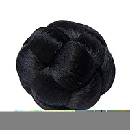 Chignon Clip In Black Colors High Temperature Fiber Synthetic Hair Pieces Accessories Braided Chignon Hair Bun Donut For Women