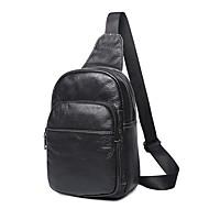 Man Tassen Alle seizoenen PU Sling Shoulder Bag voor Winkelen Causaal Zwart Grijs Bruin