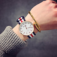 cheap -10%-Women's Wrist Watch Quartz Nylon Black / Brown Analog Ladies Luxury Vintage Casual Fashion - Pink White / Red Navy / Red / White