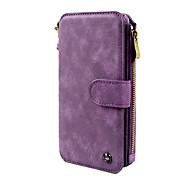 Capinha Para Samsung Galaxy NNote 8 Carteira Porta-Cartão Flip Magnética Corpo Inteiro Côr Sólida Rígida Couro Ecológico para Note 8