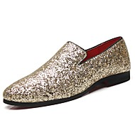 cheap Men's Slip-ons & Loafers-Men's Formal Shoes Patent Leather Fall / Winter Loafers & Slip-Ons Gold / Black / Silver / Party & Evening / Party & Evening