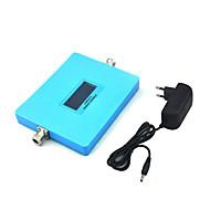 intelligent display gsm 900mhz dcs 1800mhz mobiltelefon signal booster 2g 4g signal repeater med strømforsyning / blå / mini / dual band