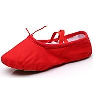billige Ballettsko-Dame Ballettsko Kustomiserte materialer Flate Flat hæl Kan spesialtilpasses Dansesko Svart / Rød / Rosa / Innendørs