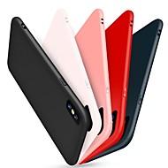 Käyttötarkoitus iPhone X kotelot kuoret Himmeä Takakuori Etui Yhtenäinen väri Pehmeä Silikoni varten Apple iPhone X