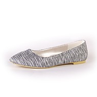 cheap Women's Flats-Women's Shoes Sparkling Glitter Spring Fall Ballerina Flats Flat Heel Closed Toe Sequin For Wedding Party & Evening Silver