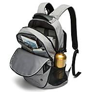 billige Skoletasker-Herre Tasker Oxfordtøj Skoletaske Lynlås for udendørs Mørkegrå / Grå