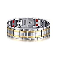 Pánské Dvoubarevné Řetězové & Ploché Náramky Kotníkové náramky Magnetický náramek Titanová ocel příroda Módní Náramky Šperky Stříbrná Pro Dar Denní
