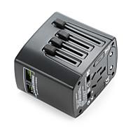 universele reisadapter 4.8a 2 usb laden poorten wereldwijd allemaal in één universele power converter wandlader