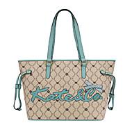 hesapli -Kadın's Çantalar PVC Omuz çantası Kuşaklar / Kurdeleler için Günlük Tüm Mevsimler Deve