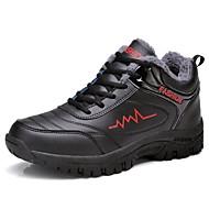 Masculino sapatos Couro Ecológico Inverno Solados com Luzes Tênis Caminhada Cadarço Para Atlético Prata Preto/Vermelho Black / azul