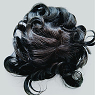 天然ヘアラインの人間の髪のスイスのレースPUのトゥーピースとヘアピース男性用