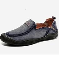 tanie Obuwie męskie-Męskie Buty Zamsz Zima Jesień formalne Buty Mokasyny i pantofle na Casual Impreza / bankiet Dark Blue Gray Khaki
