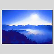 preiswerte -Handgemalte Landschaft Horizontal Panorama Segeltuch Hang-Ölgemälde Haus Dekoration Ein Panel