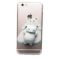 billiga Mobil cases & Skärmskydd-fodral Till Apple iPhone 7 Plus iPhone 7 Genomskinlig Mönster squishy GDS (Gör det själv) Skal Katt 3D-seriefigur Mjukt TPU för iPhone 7