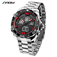 SINOBI Men's Sport Watch Military Watch Casual Watch Japanese Digital LED Calendar Dual Time Zones Alarm Shock Resistant Stopwatch Large