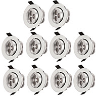 10pcs 3w led inbouw plafondlamp 300lm warm / cool wit led downlight lamp voor binnenverlichting ac85-265v