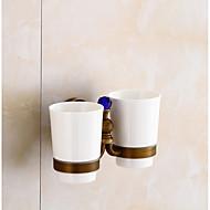אירופאי סגנון עתיק קריסטל מברשת שיניים שתי כוסות אמבטיה מברשת שיניים