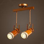 billige Spotlys-bambus deksel butikk klær butikk personlig industriell stil loft bar caf bar restaurant lys
