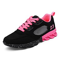 cheap Women's Athletic Shoes-Women's Shoes Tulle Spring Fall Comfort Athletic Shoes Walking Shoes Platform Lace-up for Casual Outdoor Black Pink