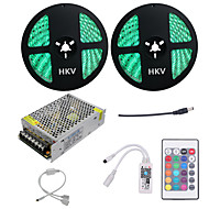 cheap LED Strip Lights-HKV Light Sets 600 LEDs RGB Cuttable Dimmable Waterproof Color-Changing Self-adhesive Linkable 110-220V