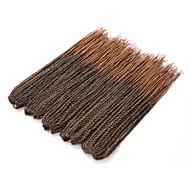 """צמות טוויסט צמות שיער צמות קרוקט 100% ahgr קנקלון בלונד תות הבינוני אובורן שחור / תות בלונדינית שחור / סגול 18"""" חלק 1 שיער קלוע תוספות"""