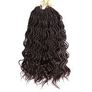 baratos -Tranças torção 3pcs / pack Tranças de Cabelo Extensões para Entrelace Senegal Encaracolado 35cm 100% cabelo kanekalon Sintético Preto /