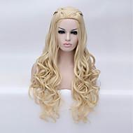 billige -Kvinder Syntetiske parykker Lokkløs Lang Dype bølger Platinum Blond Halloween parykk costume Parykker