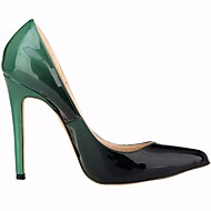 Feminino Sapatos Couro Ecológico Verão Plataforma Básica Saltos Salto Agulha Dedo Apontado Para Casual Roxo Verde Azul