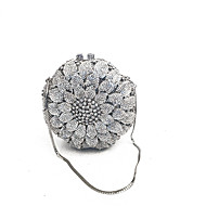 Women Bags Metal Evening Bag Crystal Detailing for Event/Party Spring Fall Gold Silver