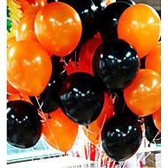 50pieces halloween ballon combo 10 inch 2,2 gram inferieure gladde dikke oranje en zwarte ballonnen