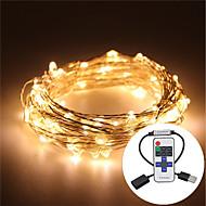 10m vanntett 5v usb ledet lys streng sølv kobber ledet lys streng kaktus jul bryllupsfesten&rf fjernkontroll